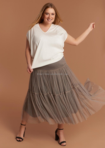 Gathered Tulle Skirt